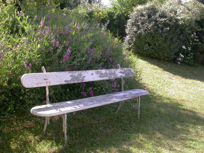 banc de jardin 1900 bois et fonte deco campagne et style campagnard decoration de charme et. Black Bedroom Furniture Sets. Home Design Ideas